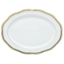 Golden Laurel Oval Platter