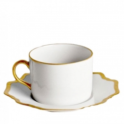 Antique White with Gold Tea Cup
