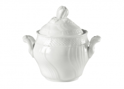 Vecchio Ginori White Covered Coffee Sugar Bowl