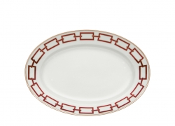 Catene Red Oval Platter