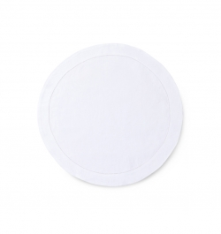 Classico White Round Placemat
