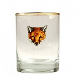 Fox Mask Set of Four Double Old Fashioneds