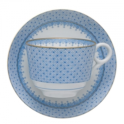 Cornflower Lace Teacup and Saucer