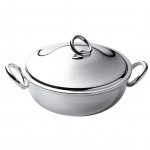 Vertigo Silver Plated Vegetable Dish with Cover