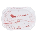 Country Estate Winter Frolic Gift Tray with \Joy to the World\