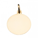 Hand-Engraved 14 Kt. Gold Disc Pendant