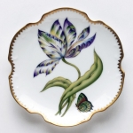 Old Master Tulips Yellow, Green, Purple and Blue Tulip Bread and Butter Plate