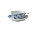 Blue Fluted Half Lace Tea Cup and Saucer
