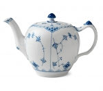 Blue Fluted Half Lace Tea Pot