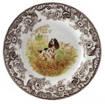 Woodland English Springer Spaniel Dinner Plate