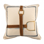 Crossing Stirrup & Strap Pillow