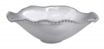 Pearled Oval Wavy Serving Bowl