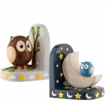 Owl Day & Night Bookends