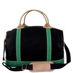 Black & Emerald Weekender Satchel