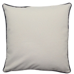 Large Natural Pillow with Navy Trim