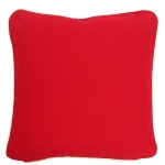 Red Pillow with Natural Trim