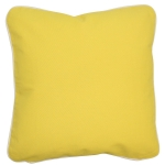 Yellow Pillow with Natural Trim