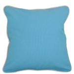 Baby Blue Pillow with Natural Trim