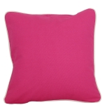 Large Hot Pink Pillow with Natural Trim