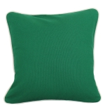 Large Emerald Pillow with Natural Trim