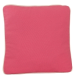Large Coral Pillow with Natural Trim