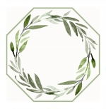 Saxon Green \Leaves\ Reversible Octagonal Placemats, Set of 4