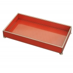 Orange Lizard Skin Tray