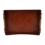 Wave Leather Tray