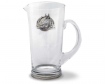 Equesrian Horseshoe Glass Pitcher