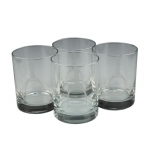 Stirrup Double Old Fashion Glasses, Set of 4