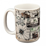 Vintage Lexington Map Mug