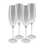 Options Champagne Flute - Personalized, Set of 4
