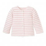 Pink Paris Stripe Cardigan, 9M