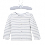 Blue Paris Stripe Cardigan, 9M
