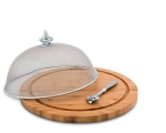 Wood Cheese Board Set with Spreader