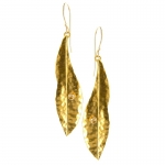 Gold Leaf Earrings with Cubic Zirconia