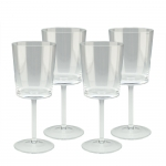 Straight Sided Wine Glass - Personalized, Set of 4