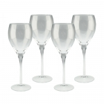 Classic White Wine Glass - Personalized, Set of 4