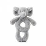 Bashful Elephant Ring Rattle