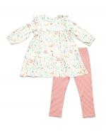 Woodland Floral Ruffle Dress & Leggings, 18-24 Months