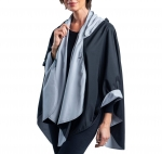 Black and Pewter Travel Cape
