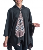 Black and Coco Plaid Travel Cape
