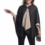 Black and Camel Reversible Travel Cape