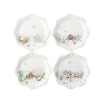 North Pole Dessert or Salad Plates, Set of 4