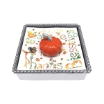 Cocktail Napkin Box - Orange Pumpkin