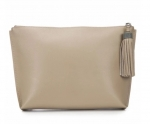 Buff Leather Pouch with Tassel