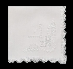 White Fine Cotton Ladies Handkerchief
