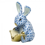Blue Storybook Bunny
