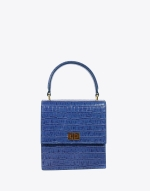 Navy Croc Mini Lady Bag