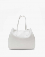 The Large Tote Pebble White